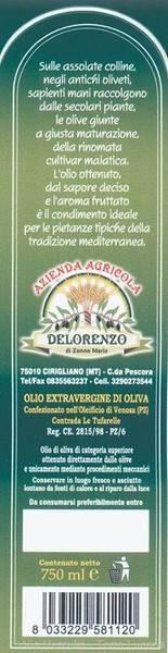 Olio Extravergine di Oliva De Lorenzo