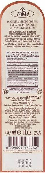 Olio Extravergine di Oliva Marsico