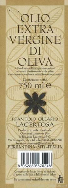 Olio Extravergine di Oliva Lacertosa
