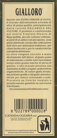 Olio Extravergine di Oliva Gialloro